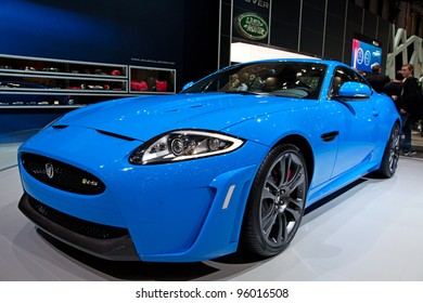 GENEVA - MARCH 8: The Jaguar XK on display at the 81st International Motor Show Palexpo-Geneva on March 8; 2011  in Geneva, Switzerland.