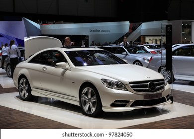 GENEVA - MARCH 8: A mercedes benz Classe CL car on display at 82th International Motor Show Palexpo-Geneva on March 8, 2012 in Geneva, Switzerland.
