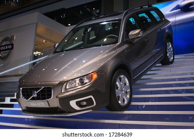 GENEVA - MARCH 9, 2007: New Volvo XC70 model demonstration on the Volvo-stand is held in 77th International Motor Show, March 9, 2007 in Geneva, Switzerland
