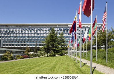 GENEVA - MAY 14: Headquarters of the World Health Organization May 14, 2013 in Geneva, Switzerland. WHO is the directing and coordinating authority for health within the United Nations system.