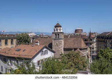 Geneva Old City - Temple of Madeleine