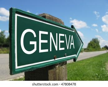 GENEVA road sign