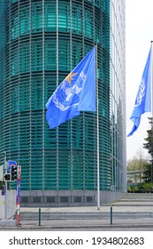 GENEVA, SWITZERLAND -5 APR 2019- Exterior view of the building of the World Meteorological Organization (WMO), a United Nations agency located in Geneva, Switzerland.