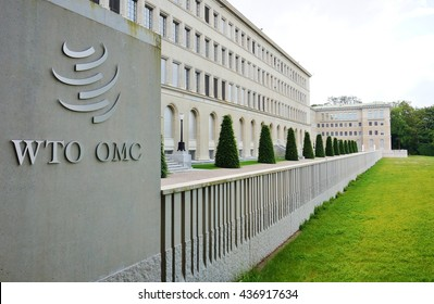GENEVA, SWITZERLAND -5 JUNE 2016- The headquarters of the World Trade Organization (WTO) is located in Centre William Rappard along Lake Geneva.