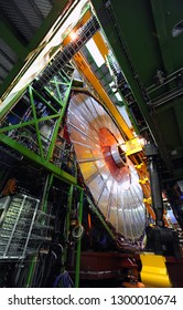 Geneva / Switzerland - April 2010 : CERN, ALICE, the acronym for A Large Ion Collider Experiment