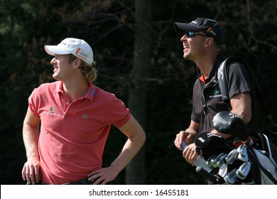 GENEVA - SWITZERLAND - AUGUST 17 : Wil Besseling from netherlands, Trophee du golf club de Geneve, august 17, 2008, Geneva, switzerland, European challenge Tour.