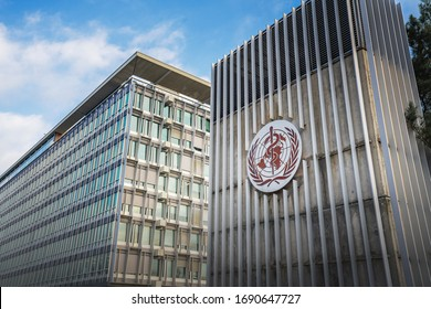 Geneva, Switzerland - December 03, 2019: World Health Organization (WHO / OMS) Headquarters