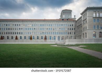 Geneva, Switzerland - December 03, 2019: World Trade Organization (WTO) Headquarters - Geneva, Switzerland