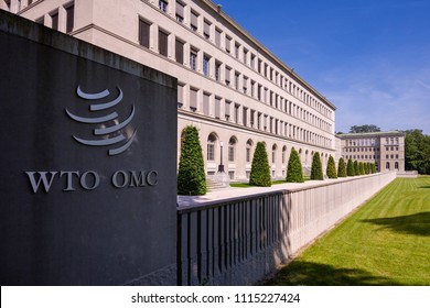 Geneva, Switzerland - june 10, 2018 : The headquarters of the World Trade Organization (WTO) is located in Centre William Rappard