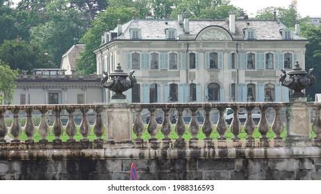 Geneva, Switzerland - June 9 2021 : public building where Biden Putin summit is taking place the 16th of June 2021