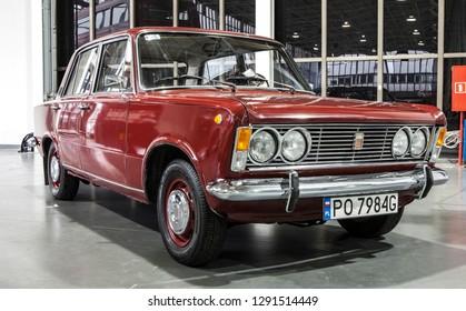 GENEVA, SWITZERLAND -JUNI 6, 2018: Old polish Fiat 125p.  Static exhibition of classic and antique cars