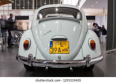 GENEVA, SWITZERLAND -JUNI 6, 2018: Old Volkswagen car. Static exhibition of classic and antique cars
