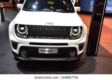 Geneva, Switzerland - March 04, 2019: Jeep Renegade S - Geneva International Motor Show 2019 GIMS