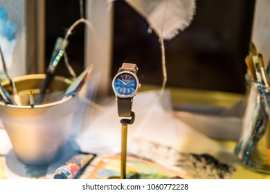 Geneva, Switzerland, March 05, 2018, Patek Philippe window store with fashionable mechanical watches. Patek Philippe is a Swiss watch manufacturer founded in 1851. designs and manufactures timepieces.
