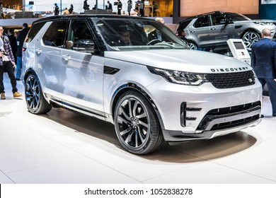 Geneva, Switzerland, March 06, 2018: Land Rover New Discovery HSE Td6 at 88th Geneva International Motor Show GIMS