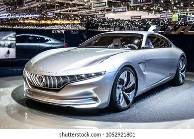 Geneva, Switzerland, March 06, 2018: Pininfarina Hybrid Kinetic GT coupe concept car at 88th Geneva International Motor Show GIMS