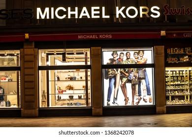 24a740a205 Geneva, Switzerland, March 09, 2019, Michael Kors fashion store, window shop