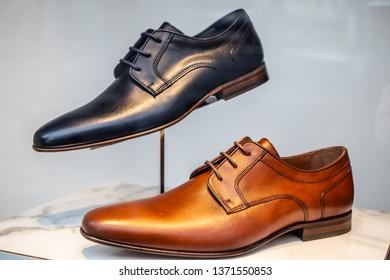 7b3ebb4f Geneva, Switzerland, March 09, 2019, Minelli men's shoes in fashion store on