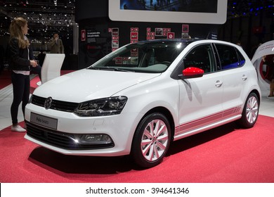 GENEVA, SWITZERLAND - MARCH 1, 2016: Volkswagen Polo Beats at the 86th International Geneva Motor Show in Palexpo, Geneva.
