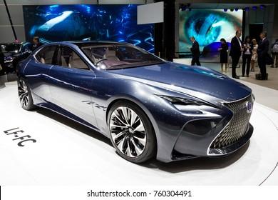 GENEVA, SWITZERLAND - MARCH 1, 2016: Lexus LF-LC concept car showcased at the 86th Geneva International Motor Show.