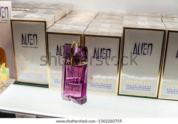 Geneva Switzerland March 10 2019 Thierry Beauty Fashion Stock Image 1362260759