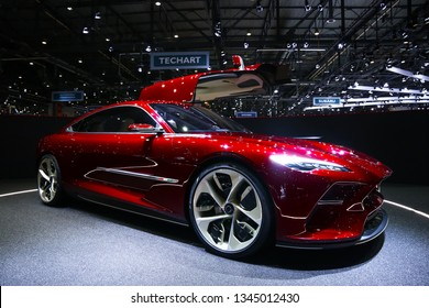 Geneva, Switzerland - March 11, 2019: Electric GT concept car Italdesign DaVinci presented at the annual Geneva International Motor Show 2019