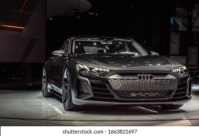 Geneva, Switzerland – March 12 2019: Audi at Palexpo, Geneva Motor Show
