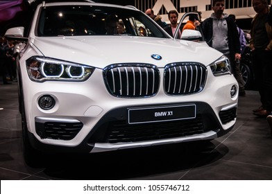 GENEVA, SWITZERLAND - MARCH 17, 2018: BMW X1 Superfast sports car presented at the 88th Geneva International Motor Show.