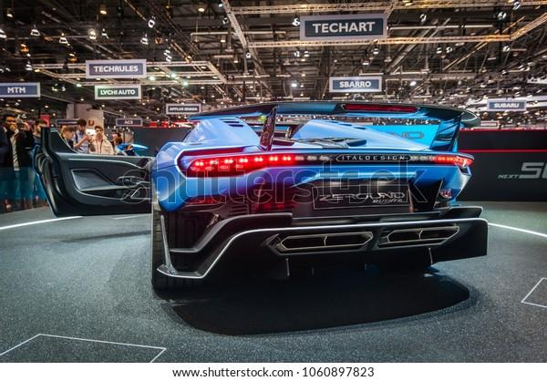 GENEVA, SWITZERLAND - MARCH 17, 2018: ZEROUNO DUERTA ITALDESIGN,  Superfast sports car presented at the 88th Geneva International Motor Show