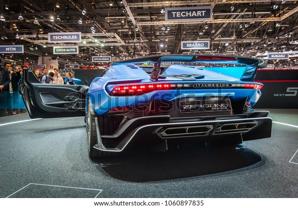 GENEVA, SWITZERLAND - MARCH 17, 2018: ZEROUNO DUERTA ITALDESIGN,  Superfast sports car presented at the 88th Geneva International Motor Show