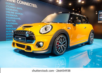 GENEVA, SWITZERLAND - MARCH 3, 2015: Mini Cooper at the 85th International Geneva Motor Show in Palexpo, Geneva.