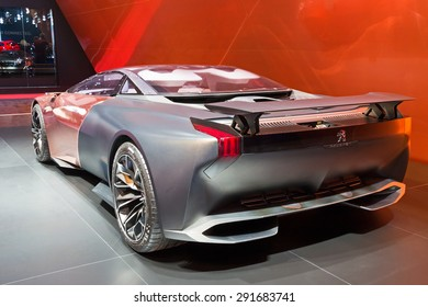 GENEVA, SWITZERLAND - MARCH 3, 2015: Peugeot Onyx at the 85th International Geneva Motor Show in Palexpo.