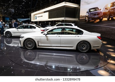 GENEVA, SWITZERLAND - MARCH 5, 2019: New BMW 7 Series showcased at the 89th Geneva International Motor Show.
