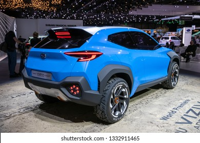 GENEVA, SWITZERLAND - MARCH 5, 2019: Subaru Viziv Adrenaline Concept car showcased at the 89th Geneva International Motor Show.