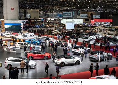 GENEVA, SWITZERLAND - MARCH 5, 2019: View of the 89th Geneva International Motor Show.
