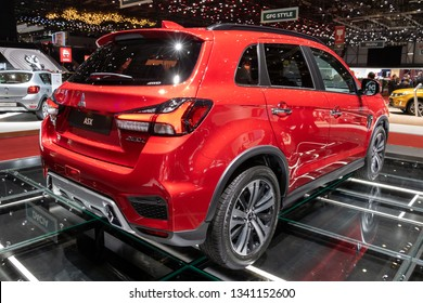 GENEVA, SWITZERLAND - MARCH 5, 2019: Mitsubishi ASX car showcased at the 89th Geneva International Motor Show.