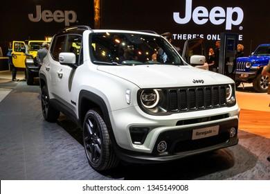 GENEVA, SWITZERLAND - MARCH 5, 2019: Jeep Renegade S car showcased at the 89th Geneva International Motor Show.