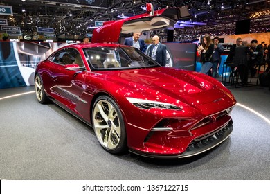 GENEVA, SWITZERLAND - MARCH 5, 2019: Italdesign DaVinci Concept car showcased at the 89th Geneva International Motor Show.