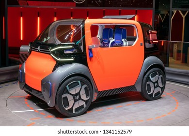 GENEVA, SWITZERLAND - MARCH 6, 2019: Citroen Ami electric concept car showcased at the 89th Geneva International Motor Show.