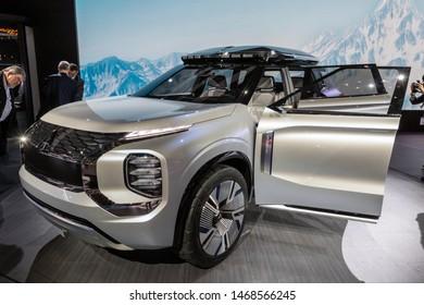 GENEVA, SWITZERLAND - MARCH 6, 2019: Mitsubishi Engelberg Tourer Concept car debuts at the 89th Geneva International Motor Show