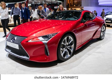GENEVA, SWITZERLAND - MARCH 6, 2019: New Lexus LC 500h car showcased at the 89th Geneva International Motor Show.