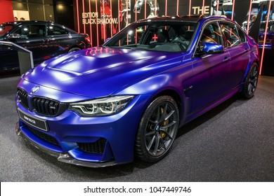 GENEVA, SWITZERLAND - MARCH 7, 2018: BMW M3 CS car presented at the 88th Geneva International Motor Show.