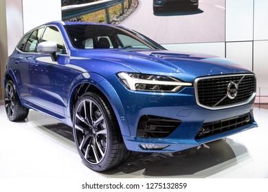 GENEVA, SWITZERLAND - MARCH 8, 2017: New 2018 Volvo XC60 car showcased at the 87th Geneva International Motor Show.