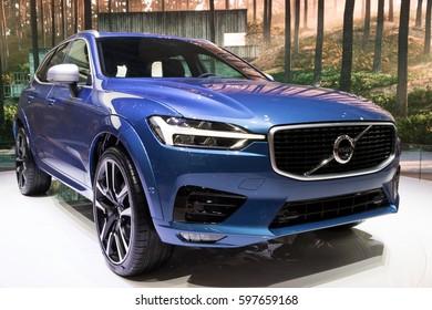 GENEVA, SWITZERLAND - MARCH 8, 2017: New 2018 Volvo XC60 car presented at the 87th Geneva International Motor Show.