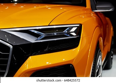 Geneva, Switzerland - March 8, 2017: 2017 Audi Q8 Concept presented on the 87-th Geneva International Motor Show in the PalExpo
