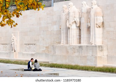 GENEVA, SWITZERLAND - october 12, 2017 : the Reformation Wall
