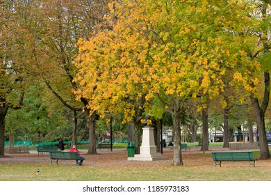 GENEVA, SWITZERLAND - october 12, 2017 : the bastions park