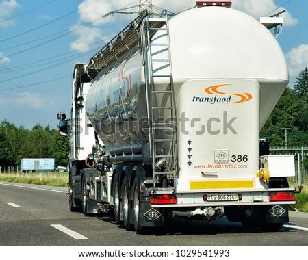 Geneva Switzerland September 1 2016 Tanker Stock Photo (Edit