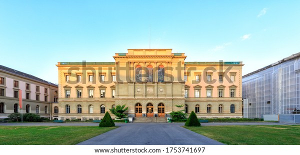 Geneva, Switzerland. University of Geneva. Multidisciplinary University - a former school of theology, founded in 1559 by the reformer Jean Calvin