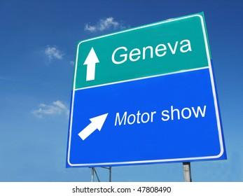 GENEVA-MOTOR SHOW sign